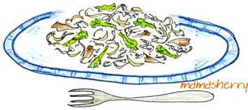 健康レシピの野菜レシピ、麺レシピ:菜の花パスタ