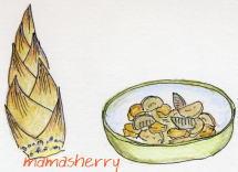 健康レシピ:筍と豚肉の味噌風味煮