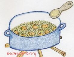 健康レシピのご飯レシピ:洋風鶏の炊き込みご飯