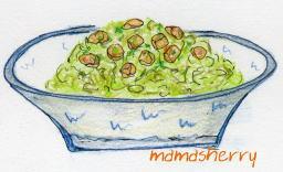 健康レシピの鶏肉レシピ:鶏とレタスのタイ風サラ