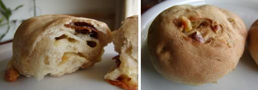 健康レシピ:ドライトマトとチーズ、クルミのパン