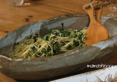 健康レシピの麺・パスタレシピ:ほうれん草たっぷりパスタ