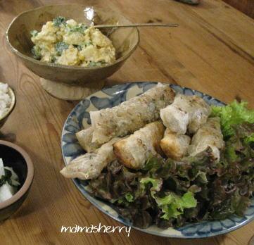 健康レシピの夕食:ベトナム風揚げ春巻き、