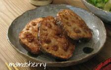 健康レシピの夕食:蓮根の肉詰め揚げ