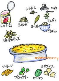 健康レシピの肉レシピ、野菜レシピ:トマトソース・ドリア